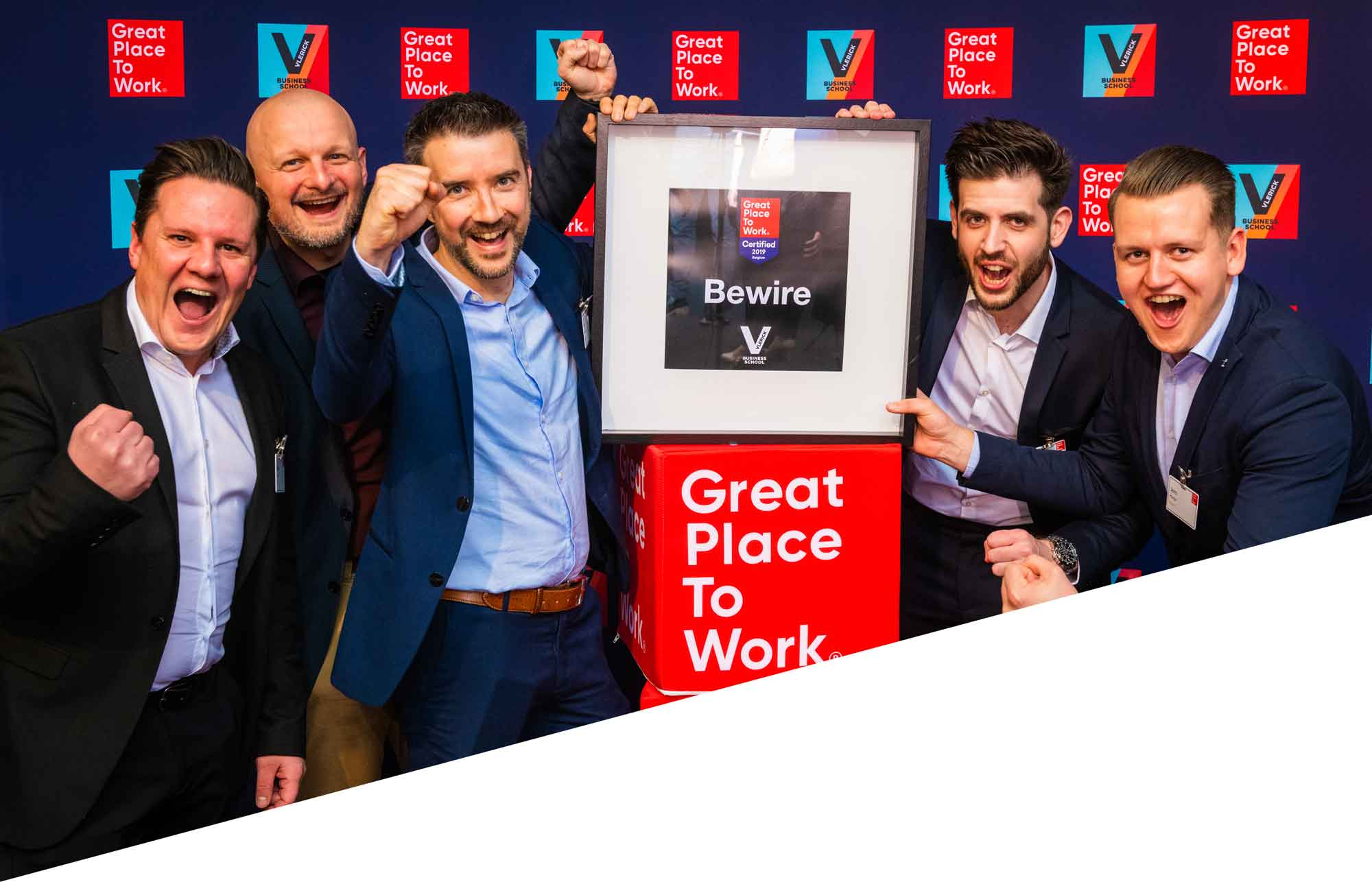 Bewire coördinators op de Great Place To Work uitreiking