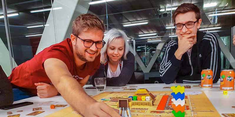 Bewire collega's op de Boardgame Night