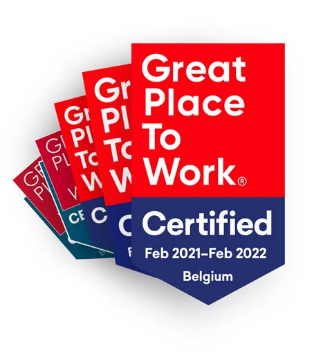 5 Great Place To Work badges