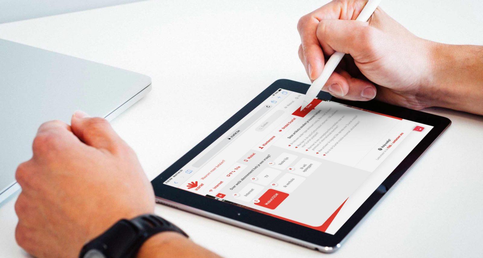 Scarlet FAQ module on iPad