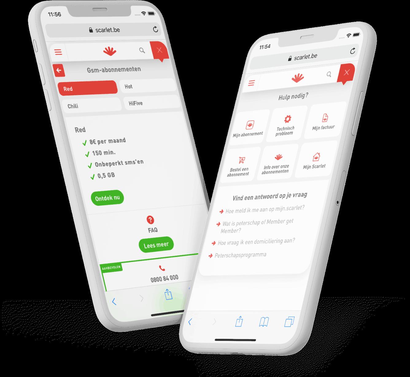 Scarlet FAQ module on iPhone X