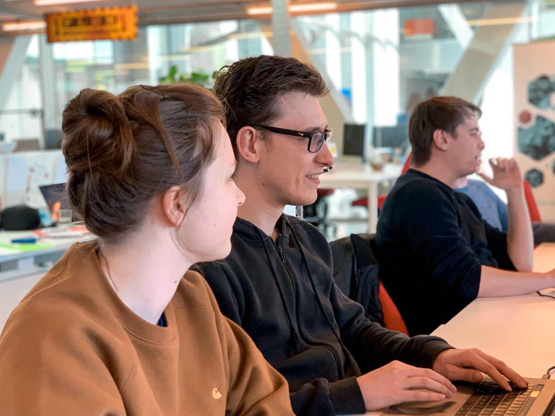 Sarah & Dylan ontwikkelen de frontend van een web applicatie